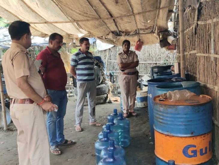नेपाल के तेल टैंकर से डीजल कटिंग करते छह लोग पकड़ाए, 4 टैंकर और 6 बाइक को किया गया जब्त|बिहार,Bihar - Dainik Bhaskar