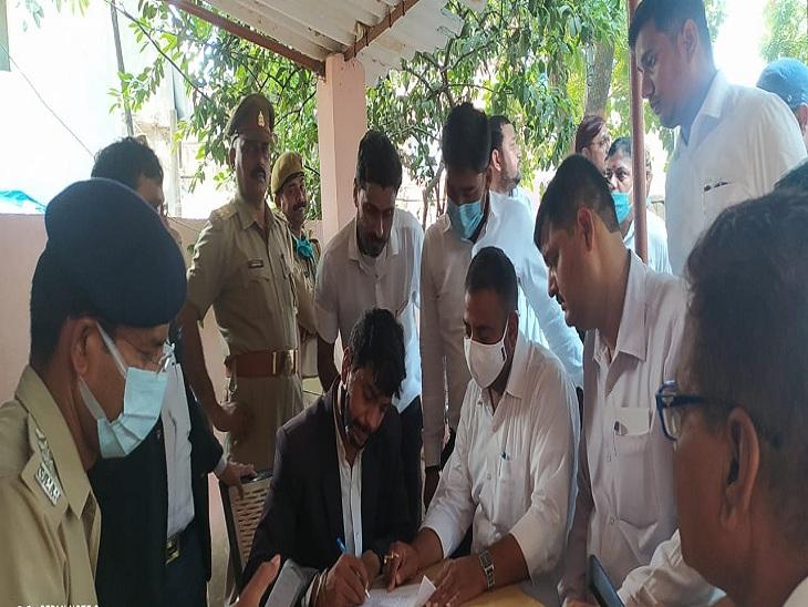 सर्किट हाउस में वाहन स्टैंड बनवा रहे ठेकेदारों पर आरोप, बार एसोसिएशन के महामंत्री ने गिरफ्तारी के लिए दिया 48 घंटे का अल्टीमेटम|वाराणसी,Varanasi - Dainik Bhaskar