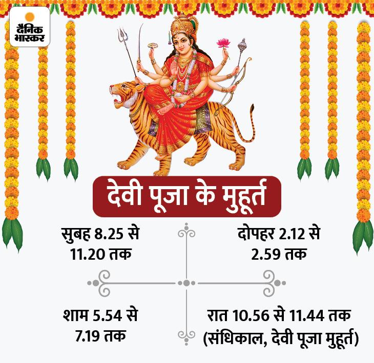 दुर्गाष्टमी पर महापूजा से हर तरह के कष्ट दूर हो जाते हैं और दुश्मनों पर जीत मिलती है। इस दिन देवी पूजा से सुख-समृद्धि, यश, कीर्ति और आरोग्यता मिलती है।