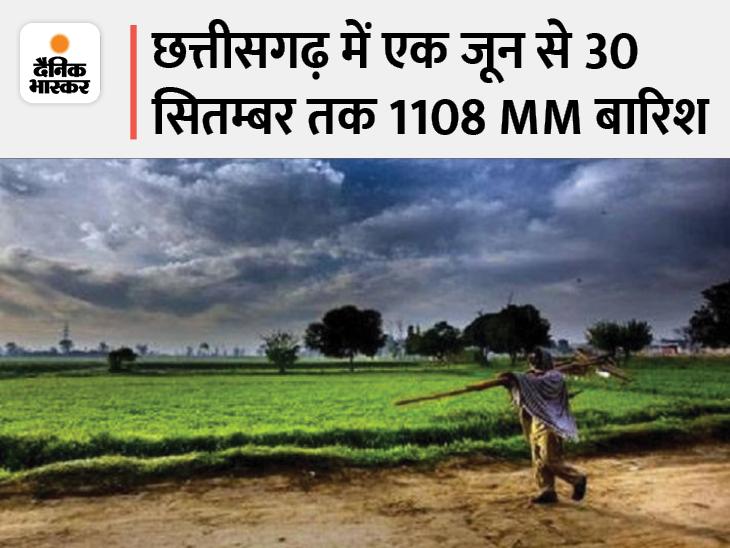 शनिवार को सरगुजा क्षेत्र से हटना शुरू हुआ, तीन दिनों में ही बस्तर की सीमाओं से भी हटा गया मानसून, इस बार अधिक दिनों तक हुई बरसात रायपुर,Raipur - Dainik Bhaskar