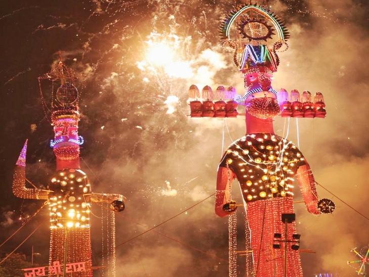 जयपुर में ऑनलाइन दिखाया जाएगा रावण दहन, कोटा में रावण का कद घटकर 25 फीट पहुंचा जयपुर,Jaipur - Dainik Bhaskar