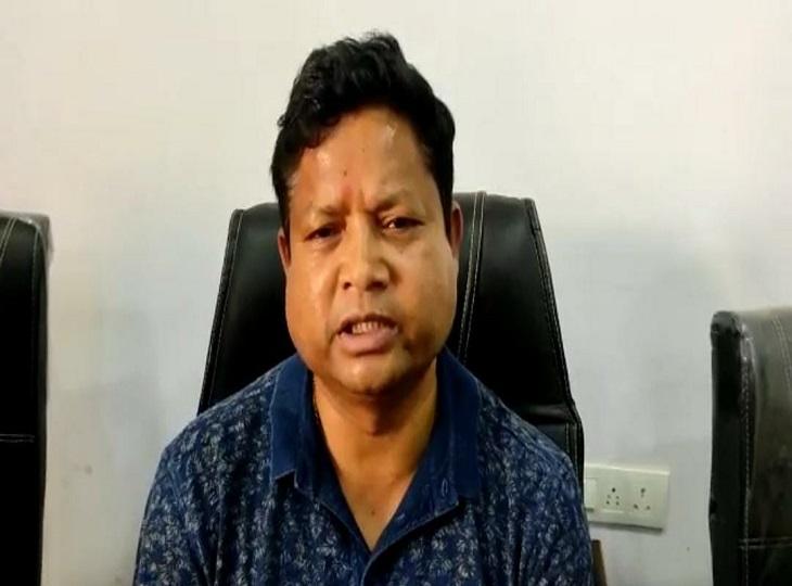 महेश गागड़ा ने बीजापुर में मीडिया से बात की