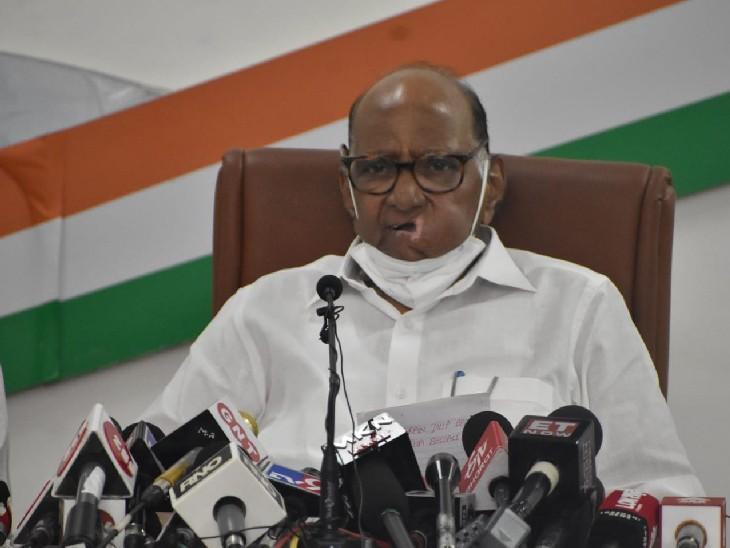 शरद पवार ने कहा- लखीमपुर हिंसा की जिम्मेदारी से यूपी सरकार नहीं बच सकती। - Dainik Bhaskar