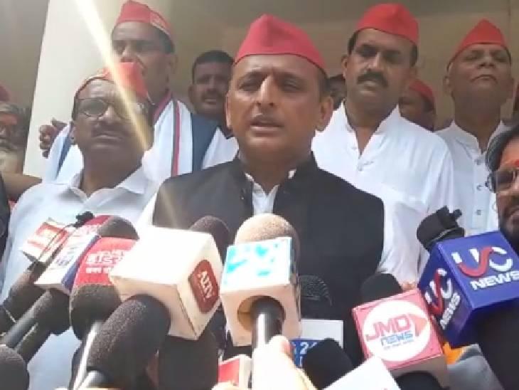 हमीरपुर में अखिलेश यादव ने कहा- सभी ने देखा किस तरह किसानों को कुचला गया, विपक्ष शांत नहीं बैठेगा|हमीरपुर,Hamirpur - Dainik Bhaskar