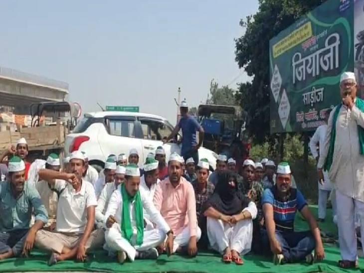 भारतीय किसान यूनियन ने किया चक्का जाम, कहा- मामले में हो निष्पक्ष जांच शामली,Shamli - Dainik Bhaskar