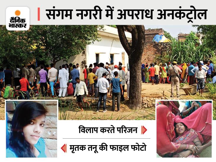 लूट के लिए घर में घुसे बदमाश, विरोध पर धारदार हथियारों से तीन को काट डाला; सुबह 6 साल की नातिन ने रोते हुए किया वारदात का खुलासा|प्रयागराज (इलाहाबाद),Prayagraj (Allahabad) - Dainik Bhaskar