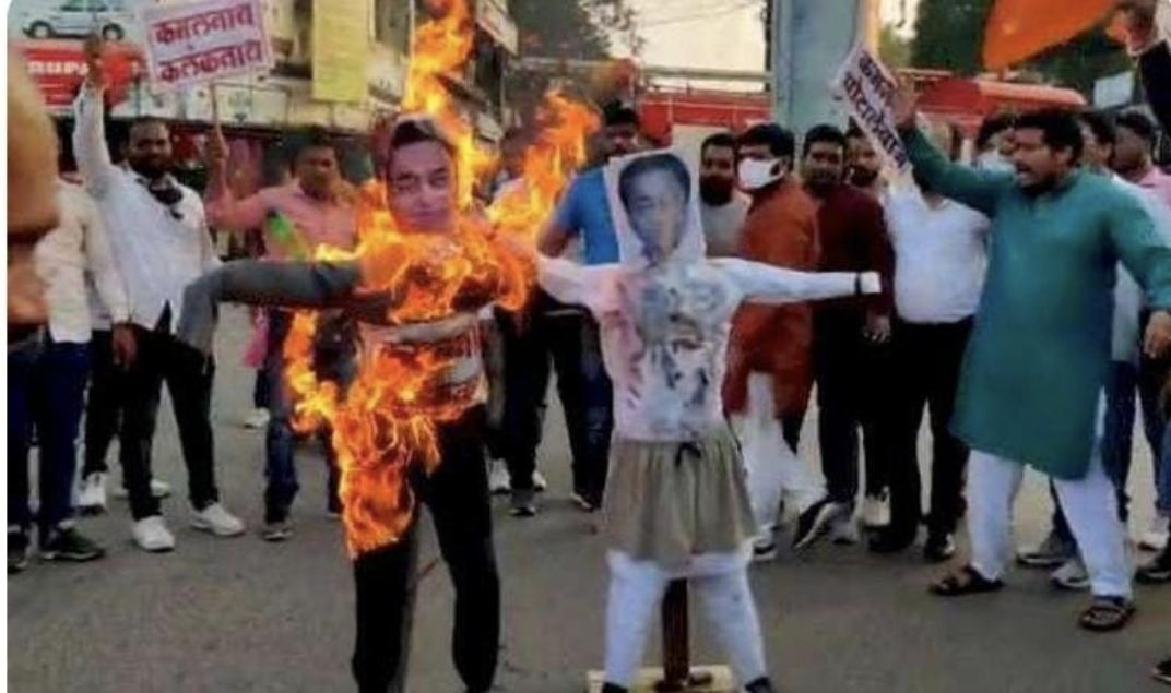 कमलनाथ के बयान पर बवाल, भाजपा ने फूंका पूर्व सीएम का पुतला, कांग्रेसियों ने वीडी शर्मा का पुतला जलाकर किया विरोध|छिंदवाड़ा,Chhindwara - Dainik Bhaskar