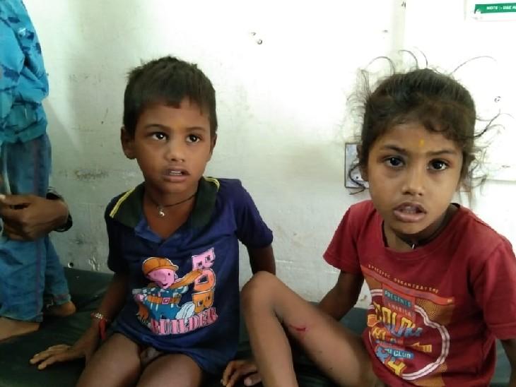 अचानक इतनी संख्या में बच्चों के अस्पताल पहुंचने पर डॉक्टर भी हुए हैरान, गांव के लोगों में खौफ|भीलवाड़ा,Bhilwara - Dainik Bhaskar