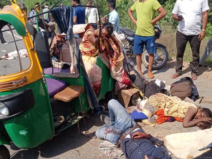 कैला देवी के दर्शन कर लौट रहा था परिवार,रॉन्ग साइड चलते हुए बस ड्राइवर ने टेंपो को मारी टक्कर,घायलों में 8 महीने का बच्चा भी शामिल धौलपुर,Dholpur - Dainik Bhaskar