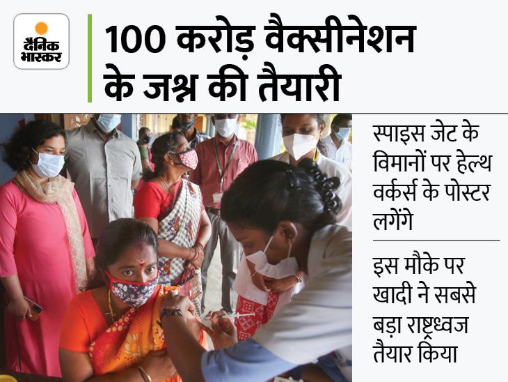 रेलवे स्टेशन-एयरपोर्ट से इस रिकॉर्ड की घोषणा होगी, वैक्सीन सॉन्ग भी लॉन्च होगा|देश,National - Dainik Bhaskar