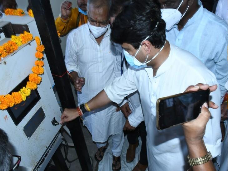 केन्द्रीय मंत्री ज्योतिरादित्य बोले- मुरार के लोगों को अब स्वास्थ्य सुविधाओं के लिए दूर नहीं जाना होगा|ग्वालियर,Gwalior - Dainik Bhaskar