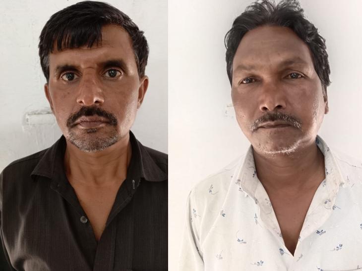 पुलिस ने शिवम इंडस्ट्रीज के मैनेजर चंद्रप्रकाश पांडेय और टैंकर ड्राइवर सुरेश कुशवाहा को हिरासत में लिया है। (लेफ्ट टू राइट)