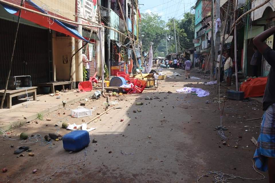 Hindu shrines and houses of Hindus have been targeted in Bangladesh in the past.  (Photo Credits - U She Thowai Marma)