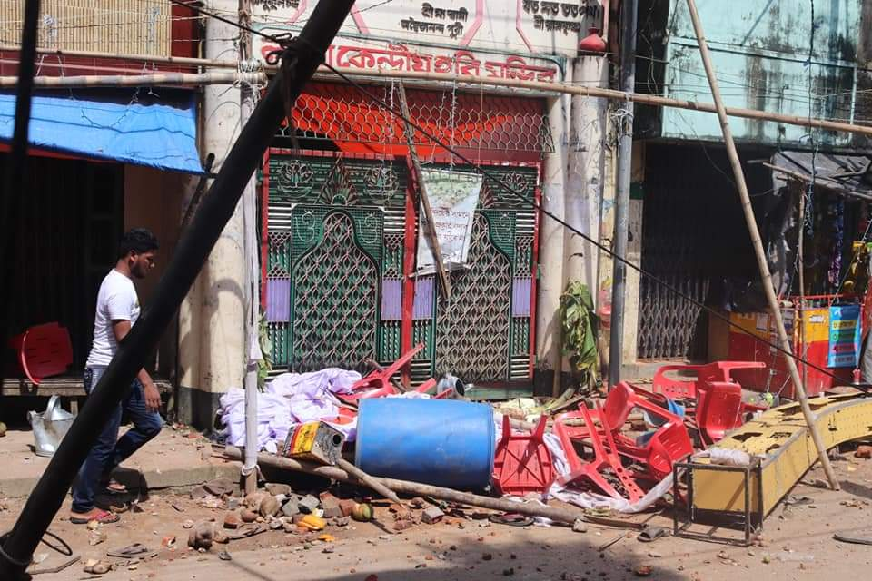 Locals said that a large number of Hindus were present for Durga Puja at the time of the attack.  (Photo Credits - U She Thowai Marma)