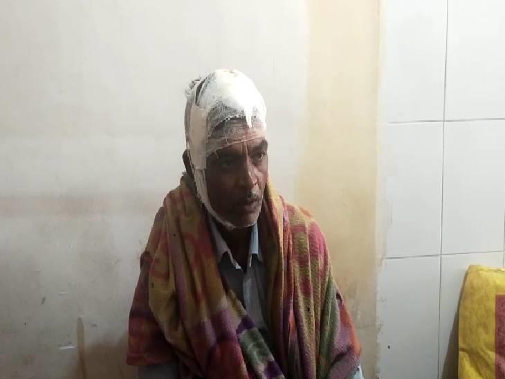 घायल धीरज सिंह - Dainik Bhaskar