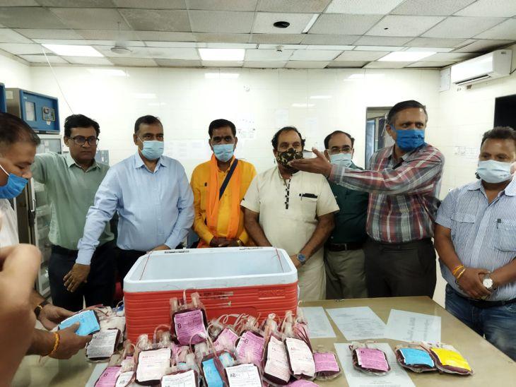 रतलाम मानव समिति ने डोनेट किया 260 यूनिट ब्लड; अभी 18 एक्टिव केस, 15 एडमिट|इंदौर,Indore - Dainik Bhaskar