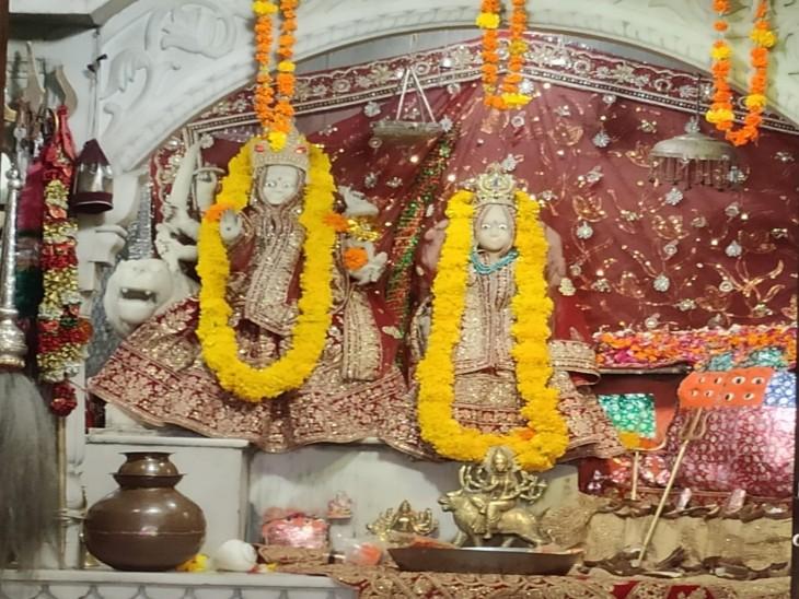 मंदिर में विराजमान चांदली की हिंगलाज माता। - Dainik Bhaskar