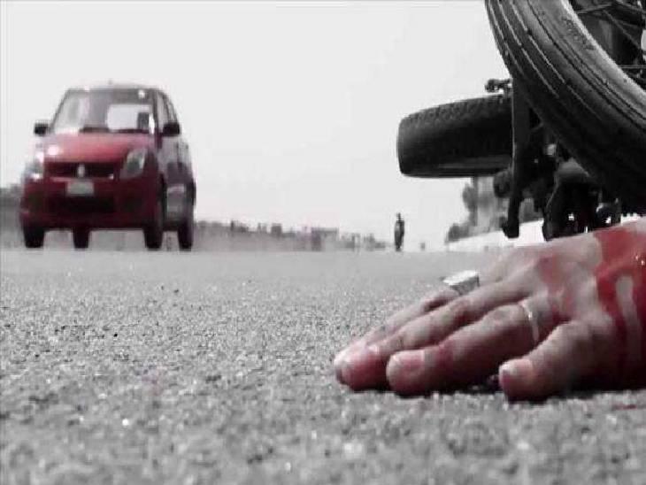 बच्ची का इलाज कराकर लौट रहा था, परिषद के कचरा वाहन ने मारी टक्कर बैतूल,Betul - Dainik Bhaskar