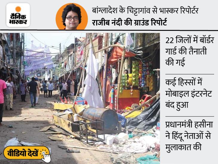 बांग्लादेश में हिंदू मंदिरों पर हमले, 4 की मौत; सोशल मीडिया पर अफवाह के बाद हिंदुओं के घर-दुकानों को भी निशाना बनाया गया|विदेश,International - Dainik Bhaskar