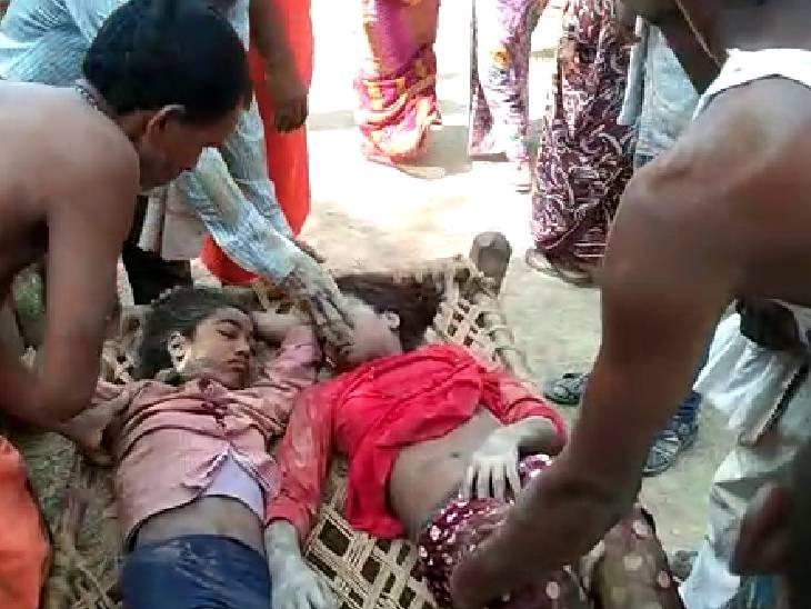 चित्रकूट में महिला और 2 किशोरी मिट्टी खोद रही थीं, अचानक ढह गया टीला, एक घायल चित्रकूट,Chitrakoot - Dainik Bhaskar
