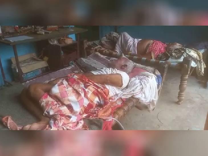 कलयुगी बेटे पर बुजुर्ग मां-बाप की हत्या का लगा आरोप, आरोपी हुआ फरार बांदा,Banda - Dainik Bhaskar