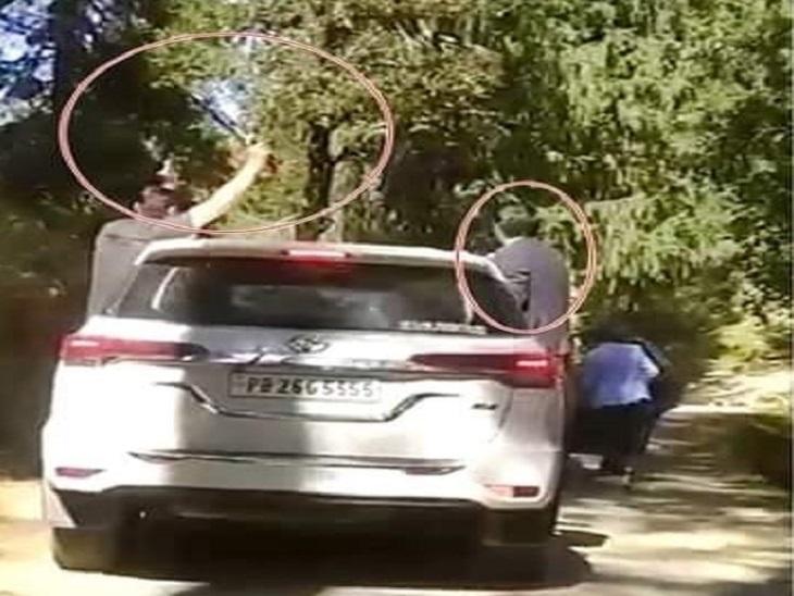 Haryana tourists firing in the air.