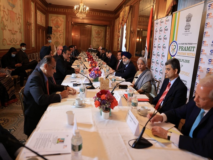 वित्त मंत्री निर्मला सीतारमण ने की वर्ल्ड के टॉप CEO के साथ मुलाकात, कहा- भारत में निवेश के बहुत अवसर बिजनेस,Business - Dainik Bhaskar