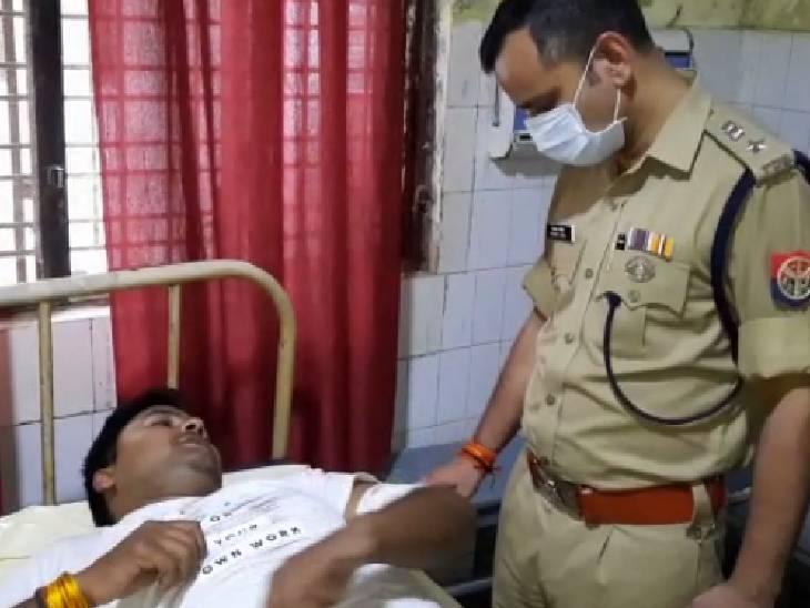 प्रतापगढ़ में दबिश देने गई पुलिस टीम पर बदमाशों ने किया फायर, दो सिपाहियों को लगी गोली|प्रतापगढ़,Pratapgarh - Dainik Bhaskar