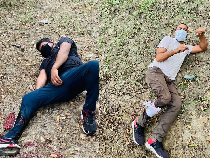 पैर में गोली मारकर 4 बदमाशों को दबोचा, लिफ्ट देकर करते थे लूट|गौतम बुद्ध नगर,Gautambudh Nagar - Dainik Bhaskar