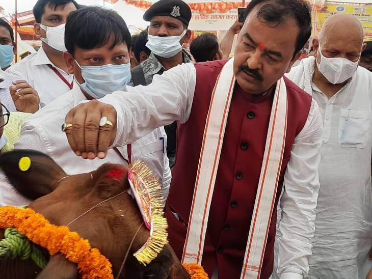 केशव प्रसाद मौर्य ने कहा- चुनाव में वोट कटवा पार्टियों से रहें सावधान, कांग्रेस के नाटकों को जनता समझ रही|देवरिया,Deoria - Dainik Bhaskar