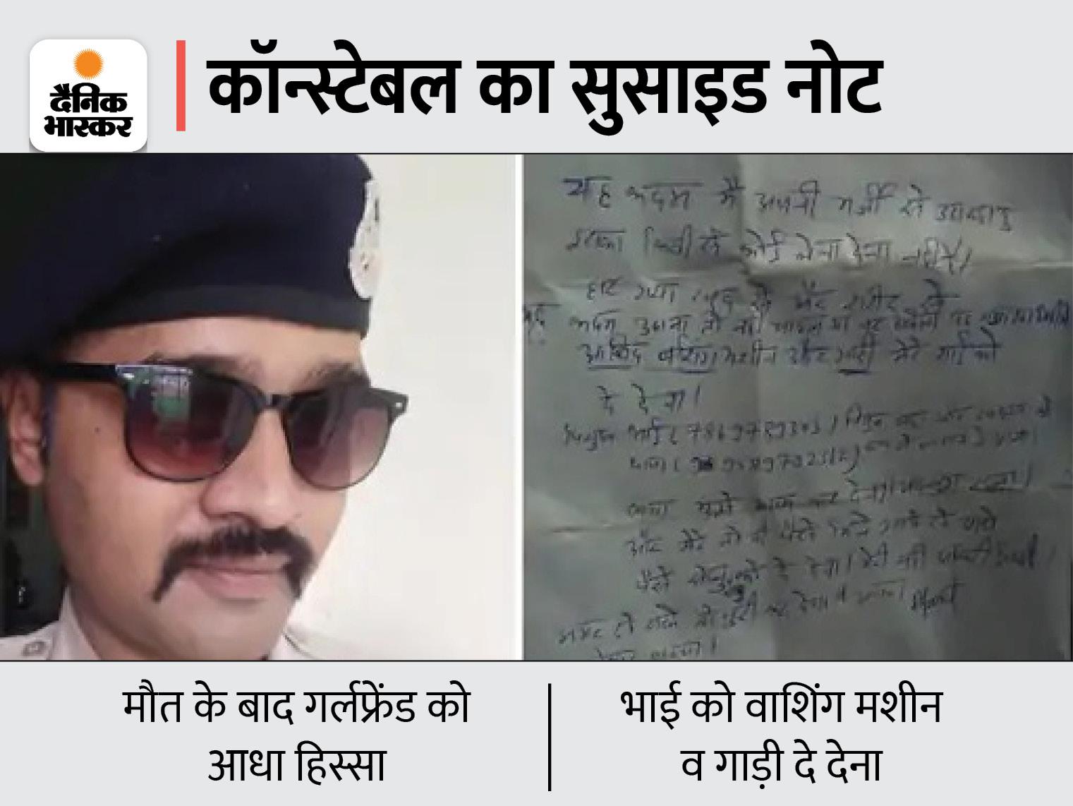 शादीशुदा महिला पर आया दिल तो परिवार से दूर हुआ; आखिरी नोट में लिखा- आधे पैसे 'सोनू बाबू' को देना खंडवा,Khandwa - Dainik Bhaskar