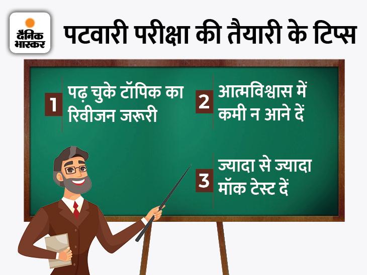 एक्सपर्ट से जानिए सक्सेस के 11 टिप्स, आखिरी दिनों में इस तरह करें स्टडी प्लान पटवारी भर्ती परीक्षा,RSMSSB Patwari Exam 2021 - Dainik Bhaskar