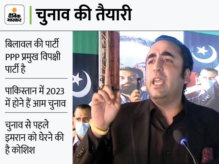 बिलावल भुट्टो ने साधा इमरान पर निशाना, कहा कि ISI को अपनी टाइगर फोर्स बनाना चाहते हैं पीएम विदेश,International - Dainik Bhaskar