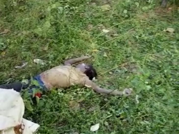 रतलाम के नामली थाना क्षेत्र में मिला अज्ञात युवक का रक्तरंजित शव, हत्या की आशंका|रतलाम,Ratlam - Dainik Bhaskar