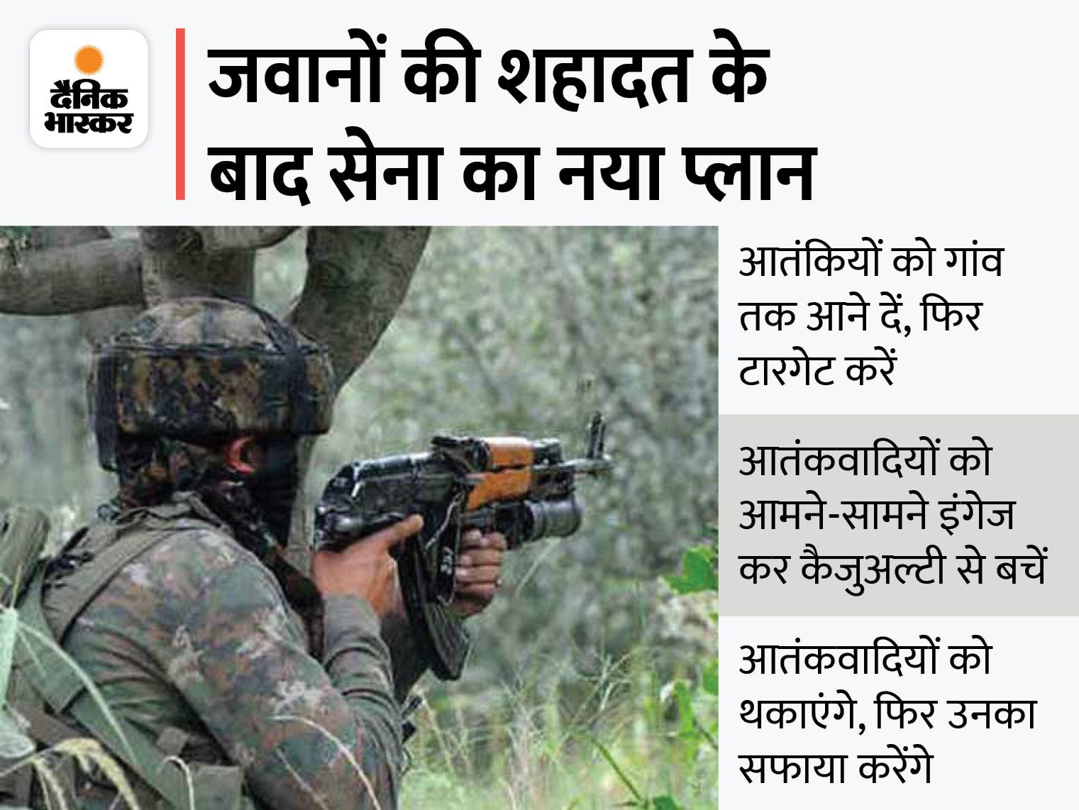 आतंकियों के लिए सेना की नई रणनीति- इंतजार करो और मौका मिलते ही मारो, अब तक 6 आतंकी ढेर|देश,National - Dainik Bhaskar