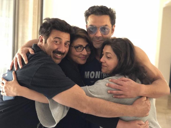 बॉबी ने स्पेशल फोटो शेयर कर बड़े भाई सनी देओल को किया बर्थडे विश, बोले-आप मेरी दुनिया हो|बॉलीवुड,Bollywood - Dainik Bhaskar