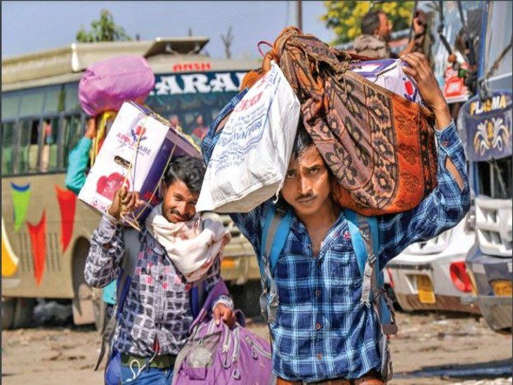 कश्मीर में 80% श्रमिक बाहरी; विकास के काम थमने लगे, घाटी में बागवानी बाहरियों के ही भरोसे|देश,National - Dainik Bhaskar