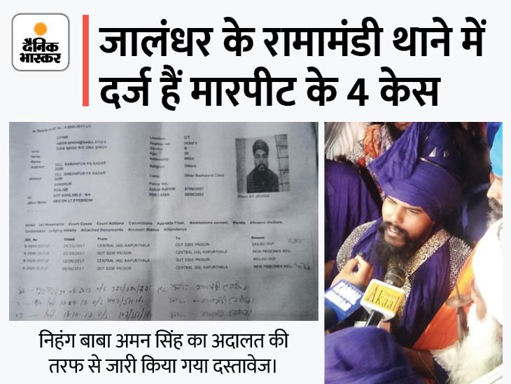 बाबा अमन पर तस्करी जैसे आरोप, लखबीर केस में आरोपी चारों निहंग इन्हीं के दल के|देश,National - Dainik Bhaskar