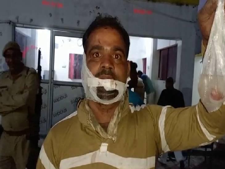 1800 रुपए मांगने पर हुआ विवाद, पीड़ित ने की कार्रवाई की मांग|संभल,Sambhal - Dainik Bhaskar
