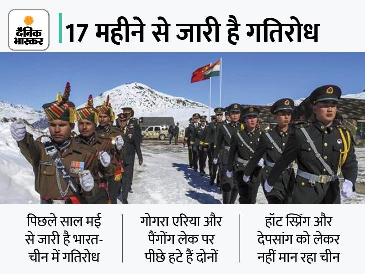 सीमा विवाद में सहमति:14वें दौर की बातचीत के लिए भारत-चीन सहमत, हॉट स्प्रिंग से पीछे हटने पर रहेगा एजेंडा