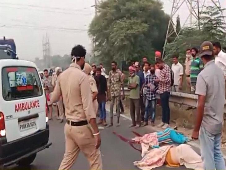 चौगिट्टी के पास अमृतसर हाईवे पर ट्राले ने मारी टक्कर, दोनों ने मौके पर ही दम तोड़ा अमृतसर,Amritsar - Dainik Bhaskar