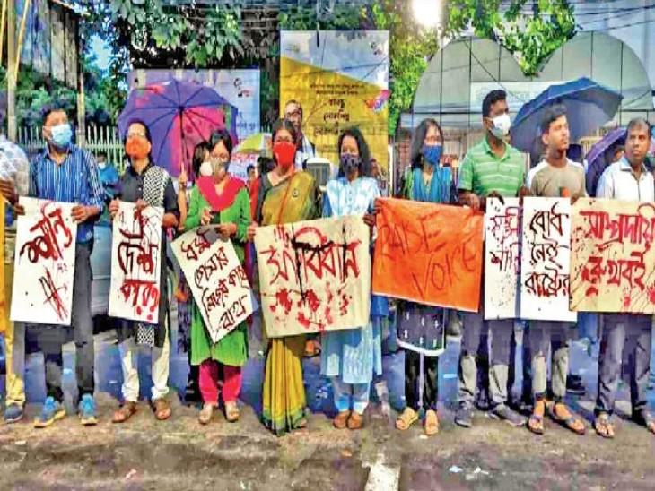 सत्तारूढ़ अवामी लीग के राज में असुरक्षा की भावना, लगातार पलायन विदेश,International - Dainik Bhaskar