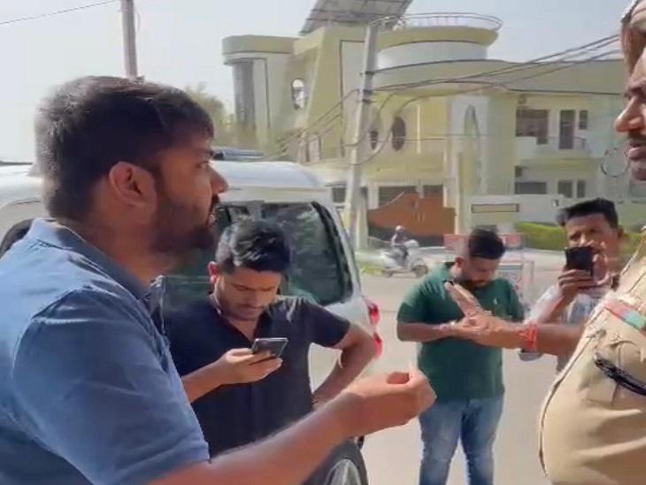 MLA के थप्पड़कांड के बाद जालंधर में यूथ कांग्रेस प्रधान पुलिस से भिड़ा; CM सिक्योरिटी रूट से निकाली गाड़ी|देश,National - Dainik Bhaskar