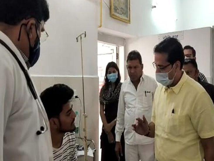 बांगड़ अस्पताल का निरीक्षण कर जानी डेंगू-मलेरिया पीड़ित मरीजों की स्थिति|पाली,Pali - Dainik Bhaskar