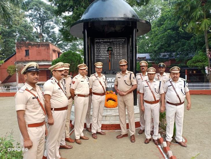 पिछले एक साल में शहीद हुए35 पुलिसकर्मियों को किया गया याद, IG-SSP ने दी श्रद्धांजलि|मुजफ्फरपुर,Muzaffarpur - Dainik Bhaskar