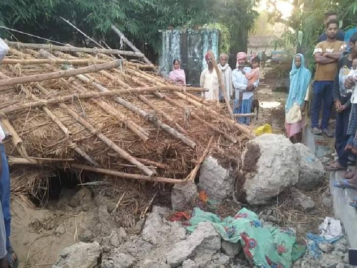 साथ सो रहा दूसरा युवक भी हुआ घायल, एसडीएम ने परिजनों को सरकारी सहायता देने की बात कही|चंदौली,Chandauli - Dainik Bhaskar