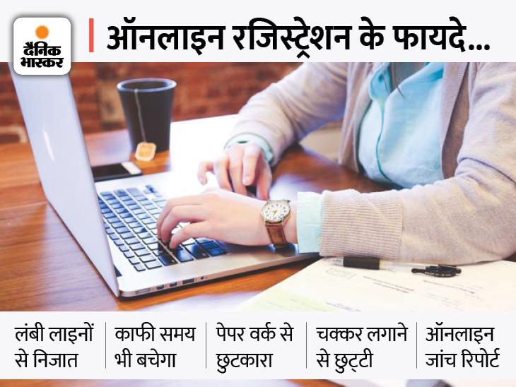 अब ऑनलाइन रजिस्ट्रेशन करवा सकेंगे मरीज, काउंटर पर मैसेज दिखाकर कटवा सकेंगे पर्ची|हिसार,Hisar - Dainik Bhaskar