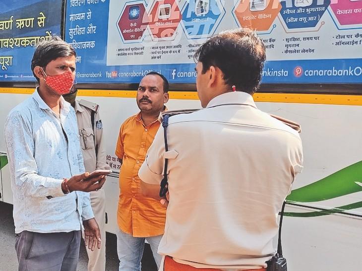 आठ स्पॉट पर छह घंटे में पकड़े 105 सवारी वाहन के चालक और कंडक्टर|ग्वालियर,Gwalior - Dainik Bhaskar
