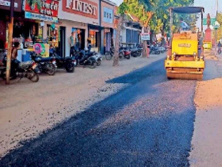 सीवरेज और बारिश से जर्जर सड़कों का 85 लाख रु. की लागत से होगा पेचवर्क|रतलाम,Ratlam - Dainik Bhaskar