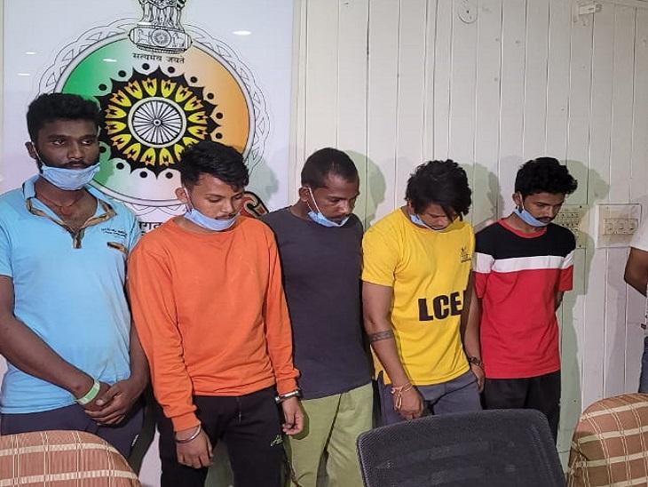 इंडिया-पाकिस्तान के मैच पर दांव लगवाने की थी पूरी तैयारी और पहुंच गई पुलिस, 7 बदमाश गिरफ्तार|रायपुर,Raipur - Dainik Bhaskar